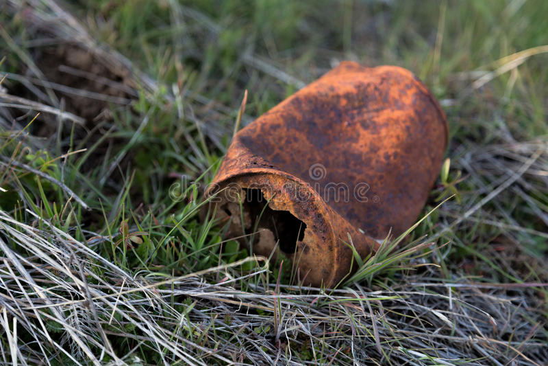 Rusted pode fotografia de stock
