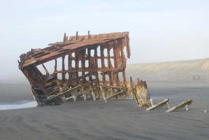 Rusted Shipwreck royalty free stock photos