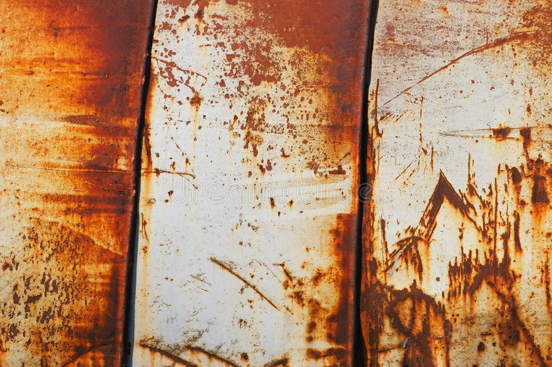 Rusted surface. Pattern of rusted metallic surface stock images