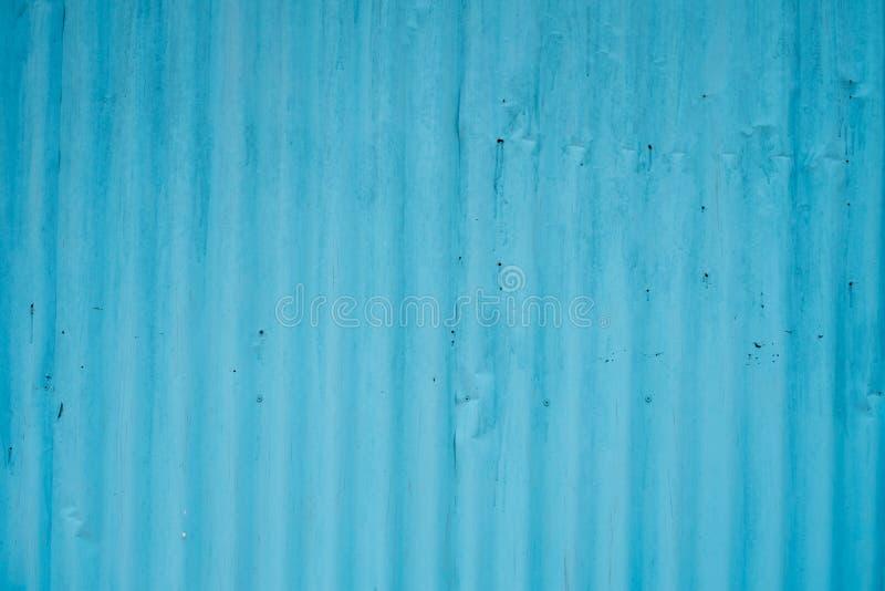 Rusted verblassen blauer alter galvanisierter Blechtafelhintergrund stockfoto