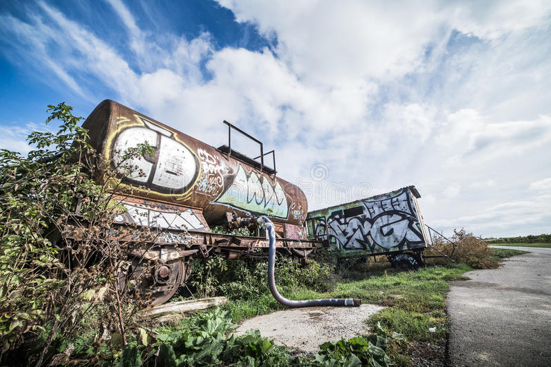 Rusted Wagon royalty free stock photography