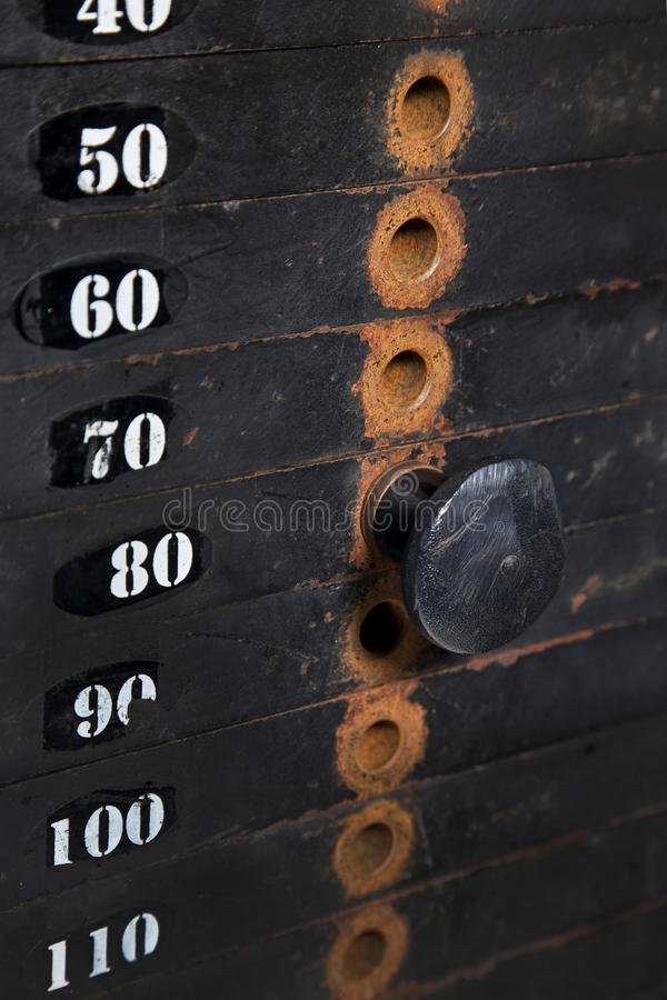 Download Rusted Weight Stack stock photo. Image of leisure, healthy - 27275146