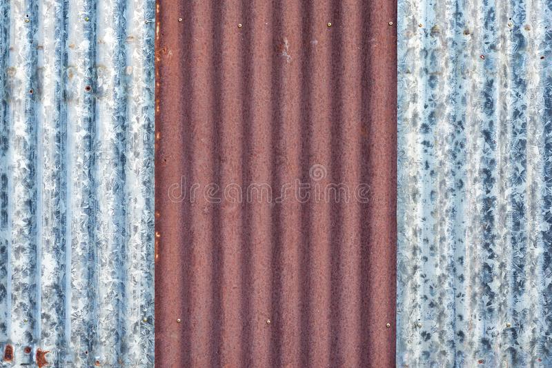 Rusted zinc stock photography