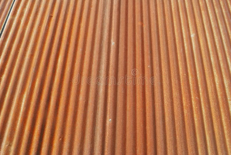 Rusted zinc surface stock image