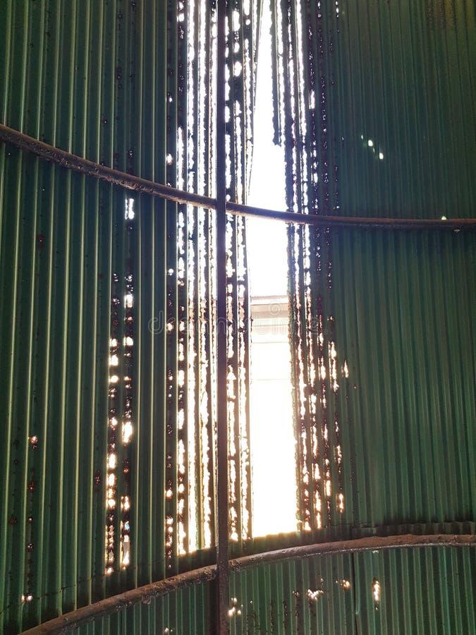 Rusted zinc wall.water, air royalty free stock photos