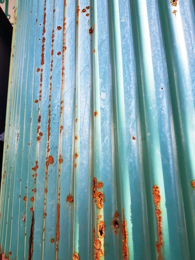 Rusted zinc wall.water, air royalty free stock image
