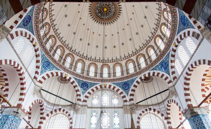 Rustem Pasha Mosque. Dome of Rustem Pasha Mosque in Eminonu, Istanbul stock images