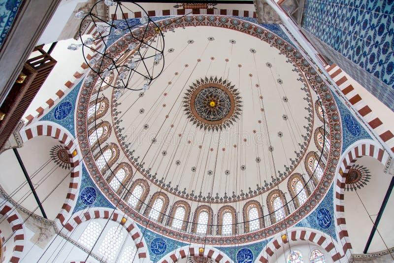 Rustem Pasha Mosque. Dome of Rustem Pasha Mosque in Eminonu, Istanbul royalty free stock photography