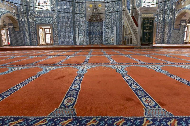 Rustem Pasha Mosque in Istanbul, Turkey. Interior of the Rustem Pasha Mosque in Istanbul, Turkey royalty free stock images