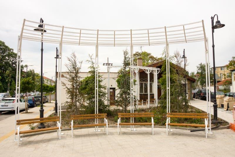 Rustende plaats in Burgas, Bulgarije stock foto's