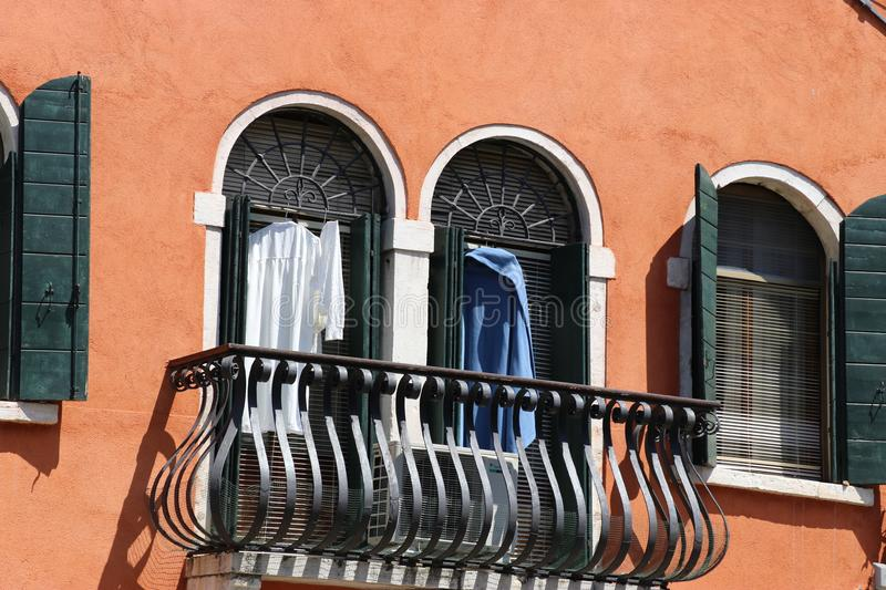Balcony in Venice stock images