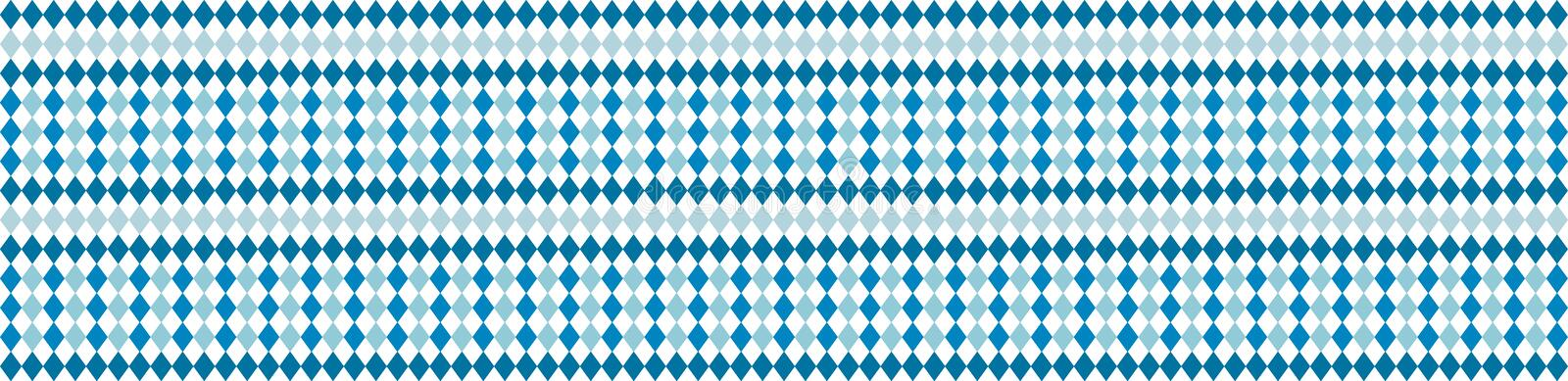 Rustic banner for Oktoberfest. Traditional white and blue rhombus pattern. Vector banner. vector illustration