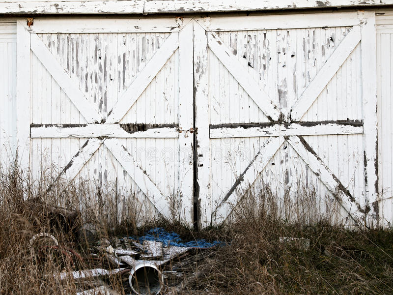 Rustic barn doors stock photos
