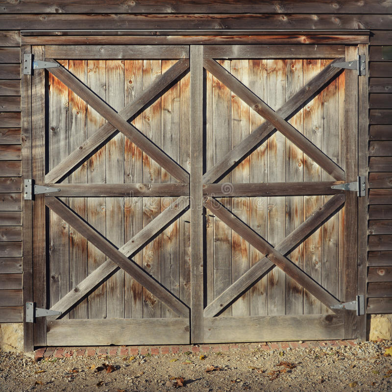 Rustic Barn Doors Stock Image Image Of Rectangular Agriculture