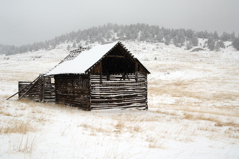 Rustic barn Evergreen stock images