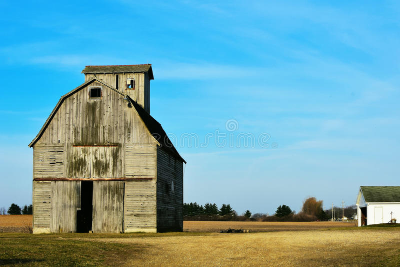 Rustic Barn Scene. A rustic wooden barn scene in Kane County, Illinois royalty free stock images