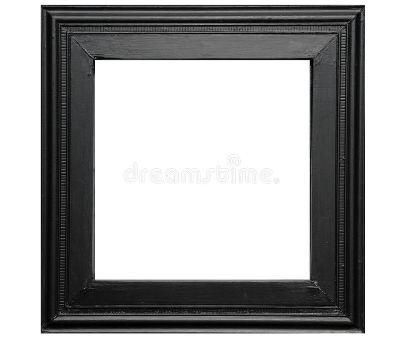 Rustic black photo frame royalty free stock image