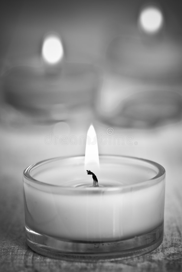 Free Rustic Black & White Candles Stock Photography - 7579712
