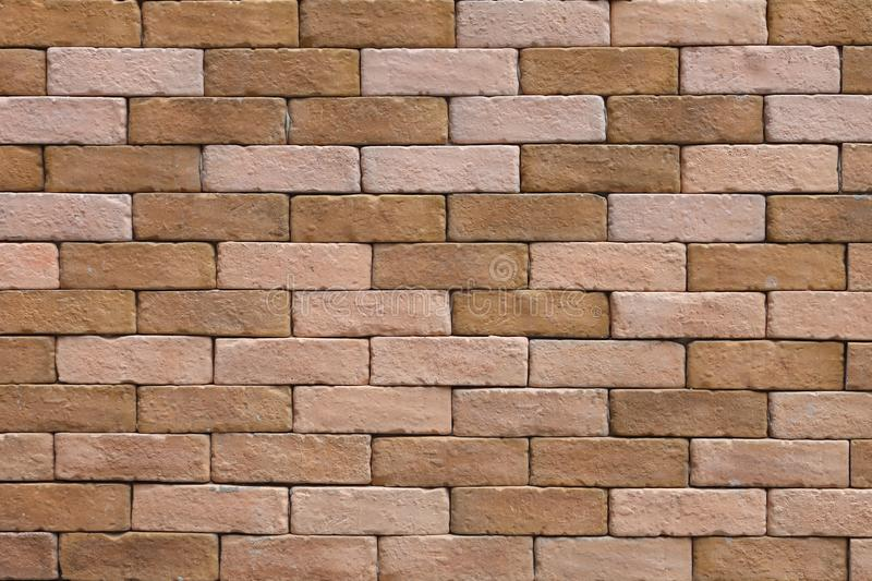 Simple rustic brick and concrete wall pattern for industrial and minimalism design stock photography