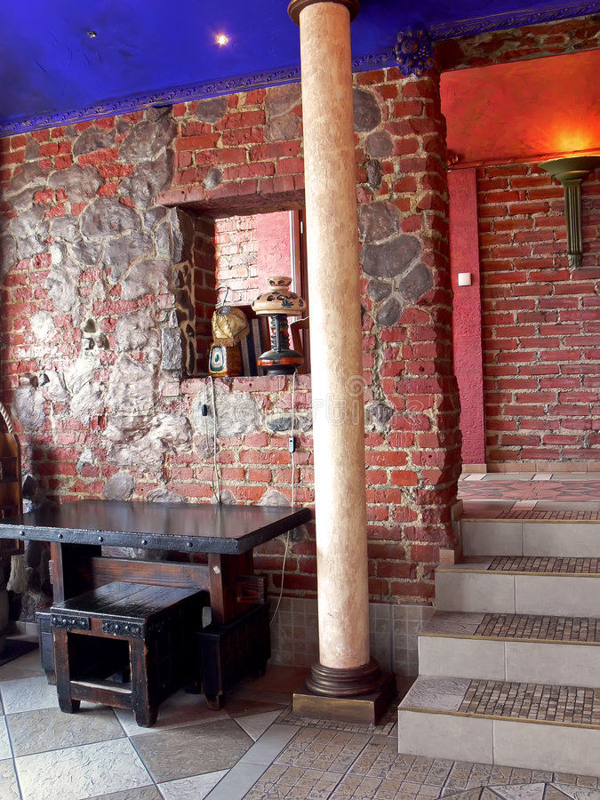 Rustic Brick Interior stock photography