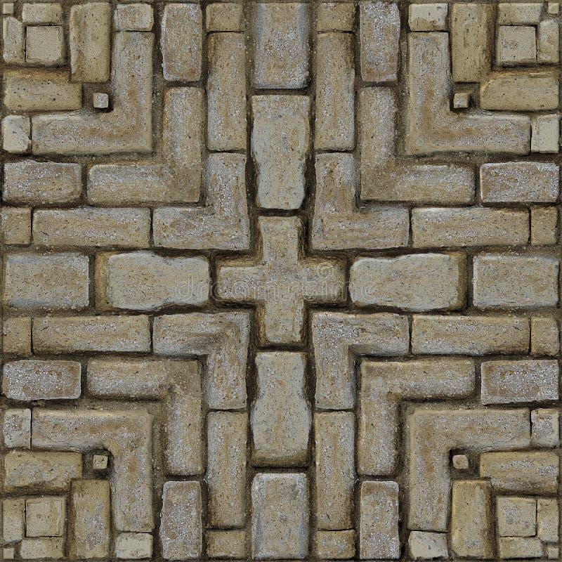 Rustic Brick Mosaic Pattern royalty free stock photography