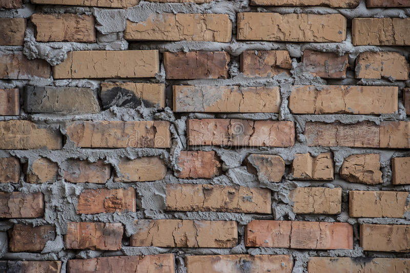 Download Rustic Brick Wall Background Stock Photo