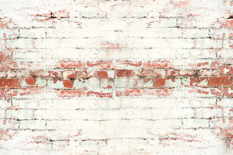 Rustic Brick wall large. Old cracked brick wall in Melbourne stock photography