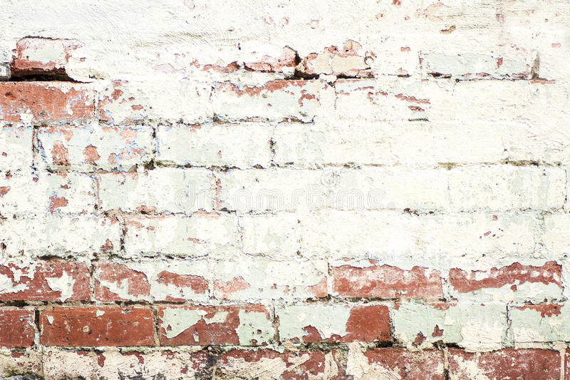 Rustic Brick wall. Old cracked brick wall in Melbourne royalty free stock images