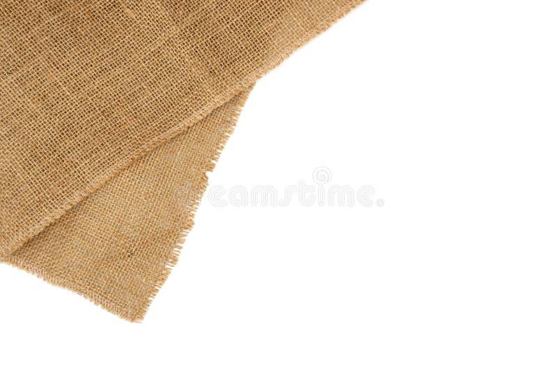 Rustic brown burlap cloth. royalty free stock photo