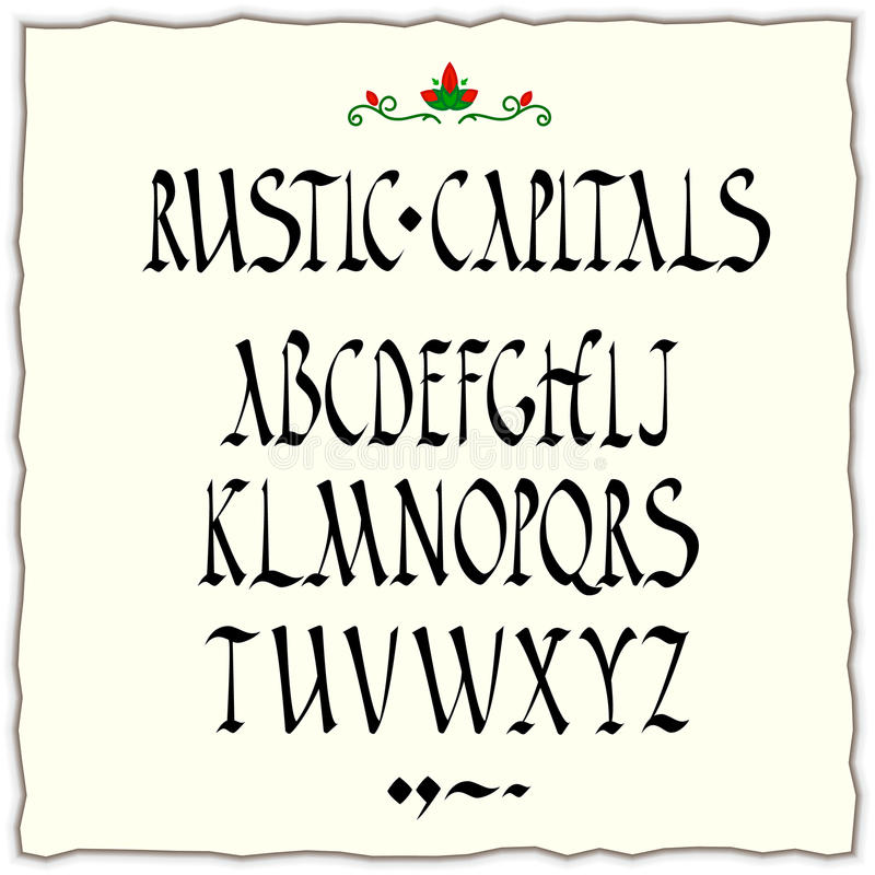Download Rustic Capitals Alphabet Stock Illustration Of Blackletter