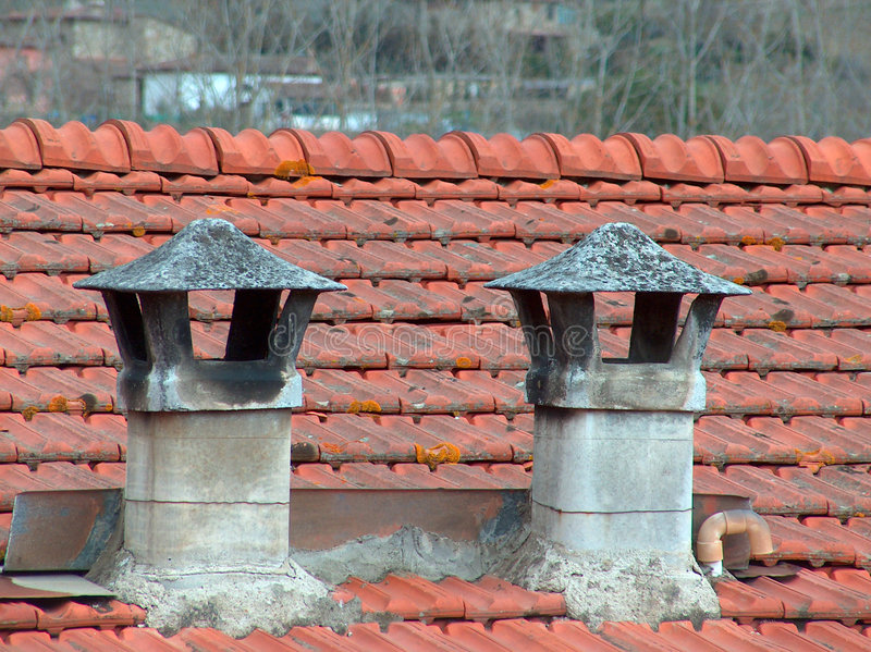 Rustic chimney royalty free stock photo