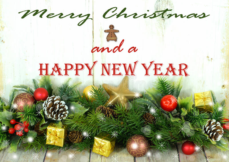 Download Rustic Christmas Border With Message Stock Illustration