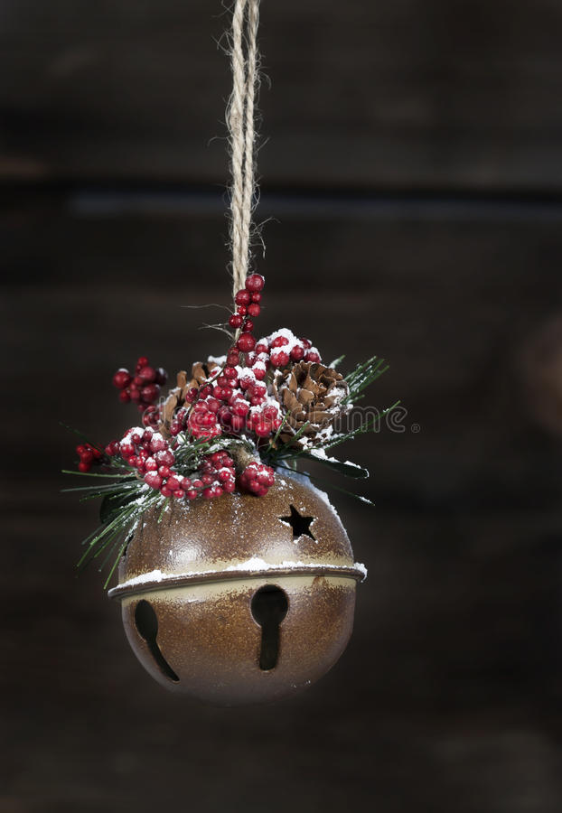 Rustic Christmas Jingle Bell royalty free stock images