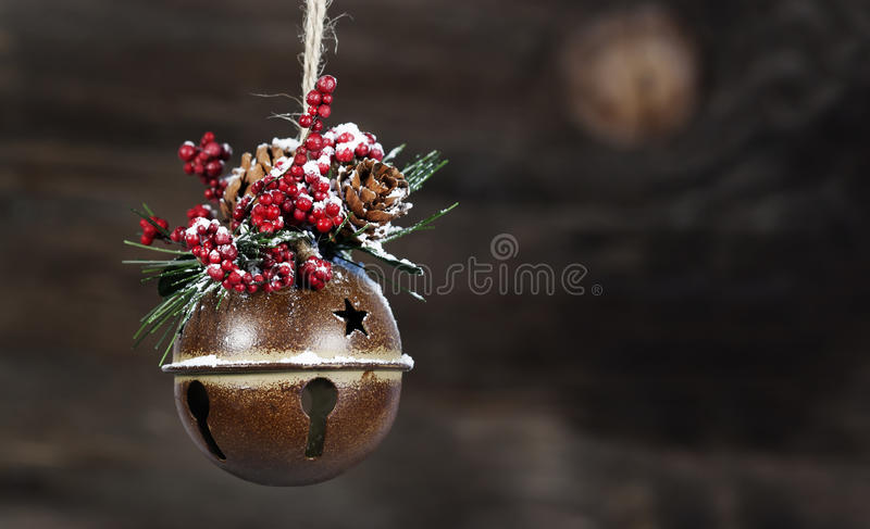 Rustic Christmas Ornament royalty free stock photos