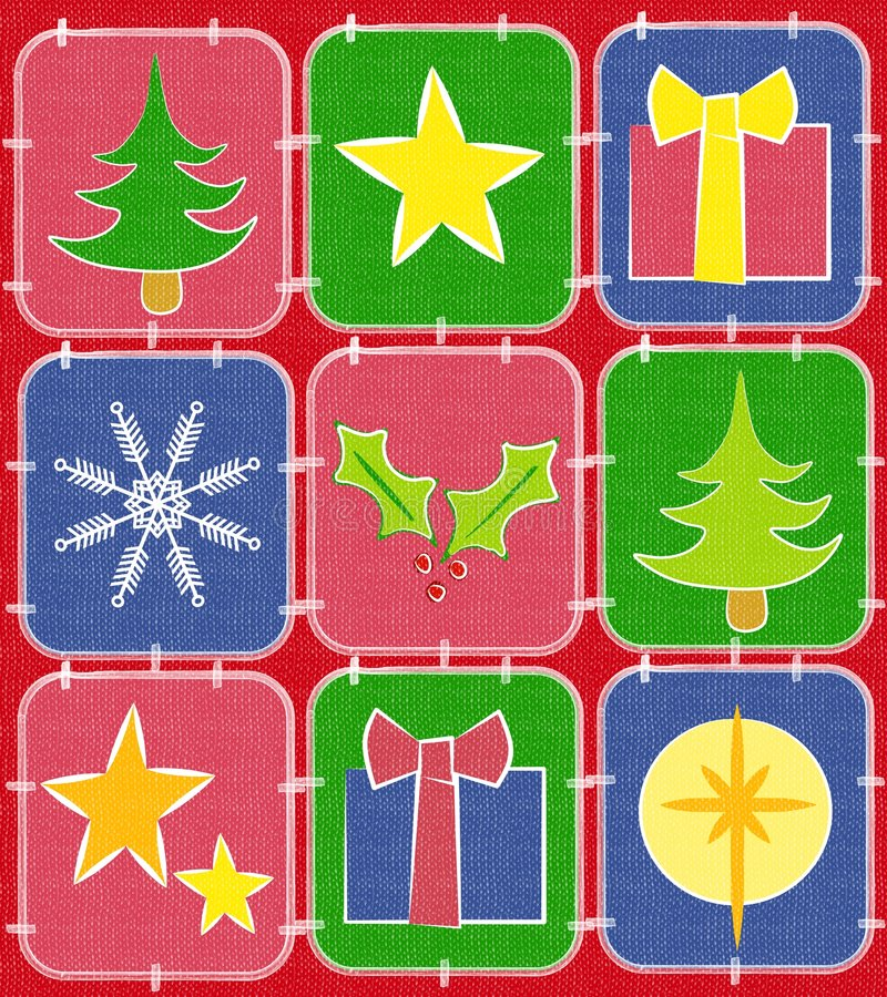 Free Rustic Christmas Quilt Background 2 Royalty Free Stock Photography - 3674287