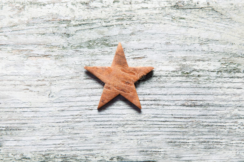 Rustic Christmas star stock photos