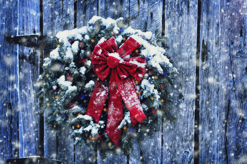 Rustic Christmas Wreath royalty free stock images