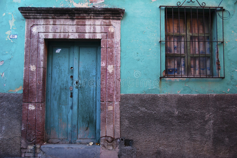 Rustic colorful door royalty free stock image