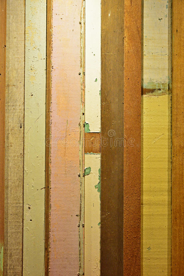 Rustic Colorful wood plank with vertical view royalty free stock photography