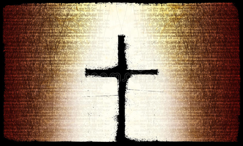 Download Rustic Cross stock illustration. Image of religious, gradient - 10285726