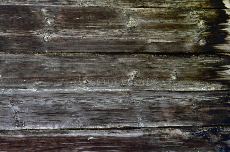 Rustic dark wood board background or texture stock photo