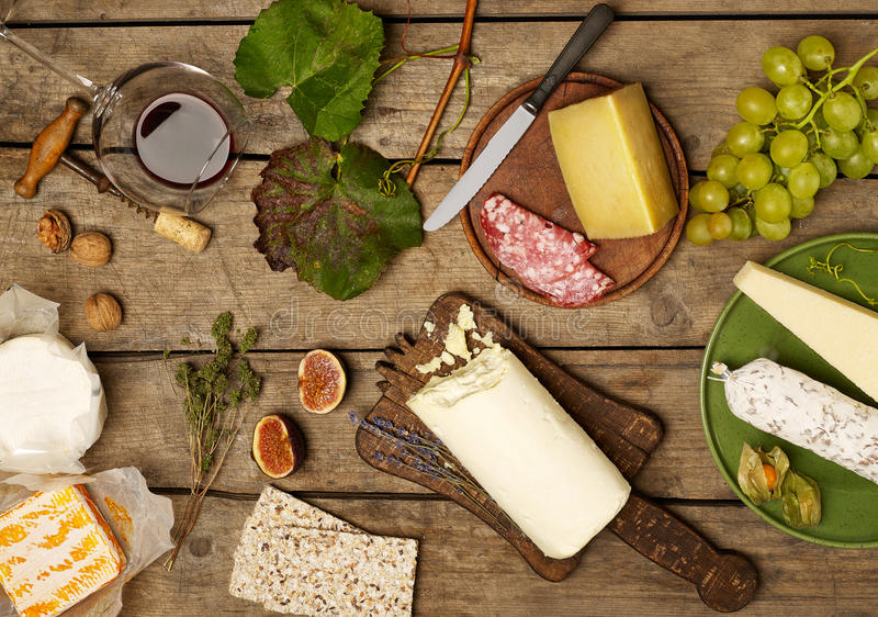 Rustic delicatessen set-up stock photos