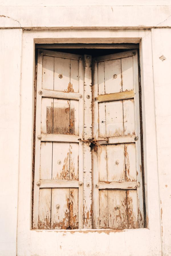 Rustic Doorway on a building inside the Red Fort in Delhi India.  royalty free stock photos