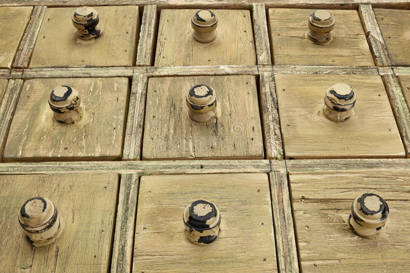 Rustic drawer cabinet stock image