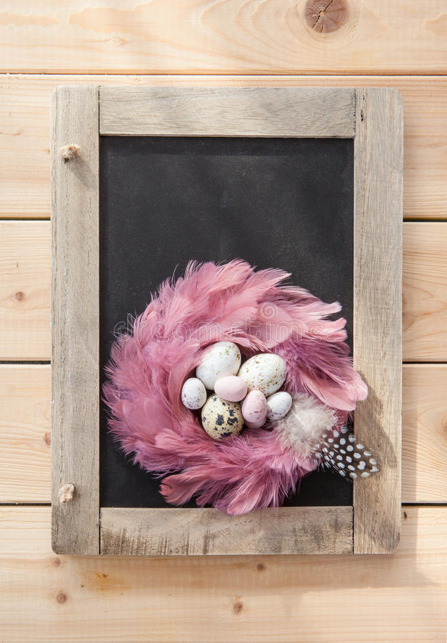 Rustic easter background royalty free stock image