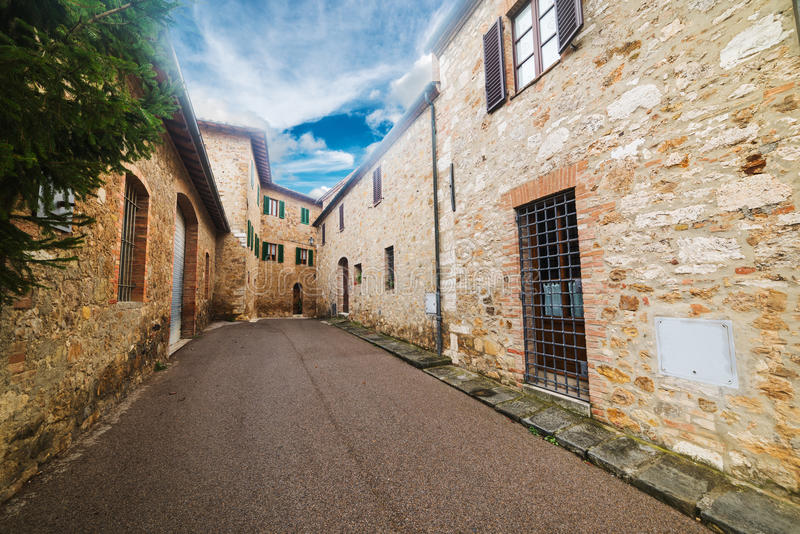 Rustic facades in Tuscany. Italy royalty free stock photo