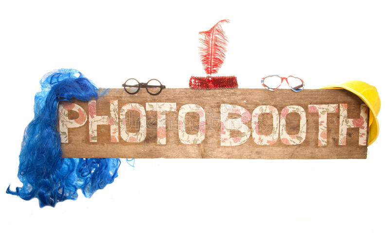 Rustic floral photo booth sign stock photos