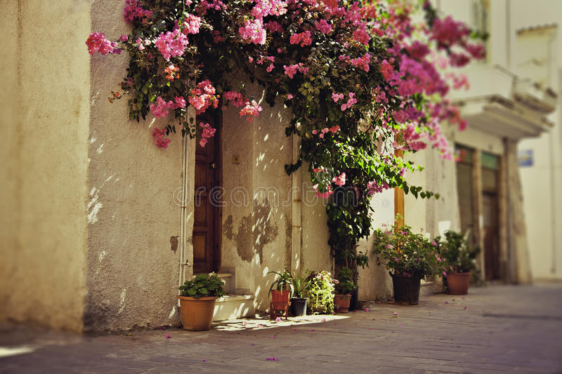 Rustic Greek townhouse stock images