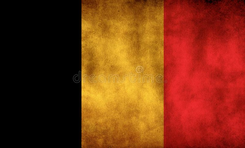 Rustic, Grunge Belgium Flag. A rustic grunge Belgium flag with a sepia tone royalty free stock image