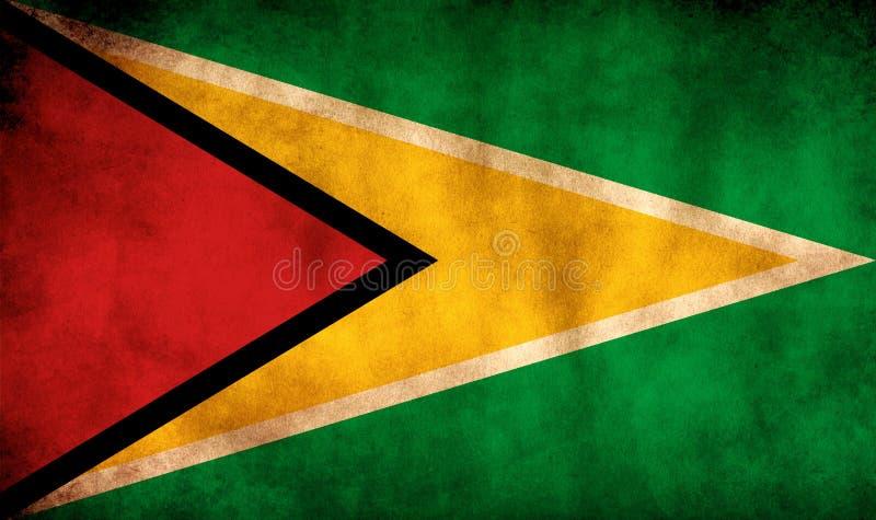 Rustic, Grunge Guyana Flag. A rustic grunge Guyana flag with a sepia tone stock image